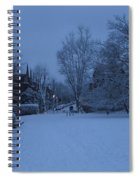 Winter Blue Britain Spiral Notebook