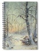 Winter Breakfast Spiral Notebook