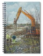 Winter Building Site Breaker Spiral Notebook