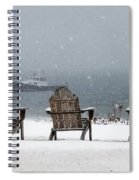 Winter By The Sea Spiral Notebook