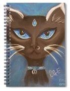 Winter Cat Spiral Notebook