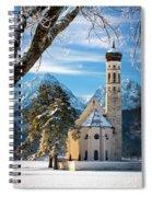Winter Church In Bavaria Spiral Notebook