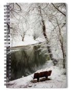 Winter Contemplation Watercolor Painting Spiral Notebook