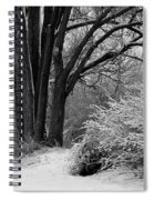 Winter Day - Black And White Spiral Notebook