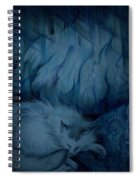 Winter Day Napping Spiral Notebook
