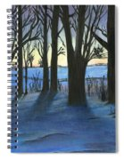 Winter Day's End Spiral Notebook