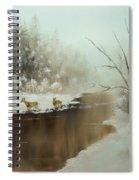 Winter Deer Run Spiral Notebook