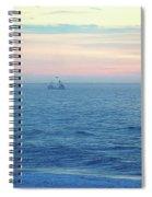 Winter Dragger Spiral Notebook