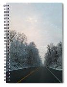Winter Drive Spiral Notebook