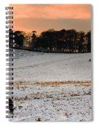 Winter Dusk At Bradgate Park Spiral Notebook