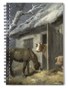 Winter Farmyard Spiral Notebook