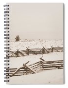 Winter Fence In Oregon Spiral Notebook