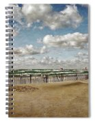 Winter Fences In Grand Haven 3.0 Spiral Notebook