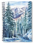 Winter Forest And Mountains Spiral Notebook