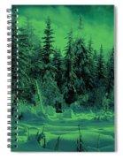 Winter Forest Dream At Dusk Spiral Notebook