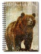 Winter Game Bear Spiral Notebook