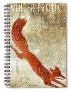 Winter Game Fox Spiral Notebook