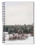 Winter Glade Under Snow. Spiral Notebook