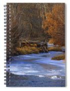 Winter Gold On The Yakima River Spiral Notebook