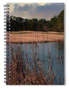 Winter Golfing Spiral Notebook