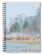 Winter Hoarfrost On The River Spiral Notebook