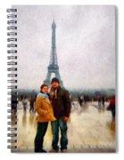 Winter Honeymoon In Paris Spiral Notebook