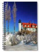 Winter Ice At Point Betsie Spiral Notebook