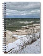 Winter Ice On Lake Michigan Ll Spiral Notebook
