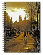 Winter In Amsterdam-1 Spiral Notebook