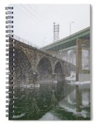 Winter In East Falls Along The Schuylkill River Spiral Notebook