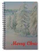 Winter In Gyllbergen Merry Christmas Red Text Spiral Notebook