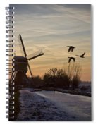Winter In Holland-1 Spiral Notebook