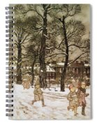Winter In Kensington Gardens Spiral Notebook
