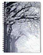 Winter In Our Street Spiral Notebook