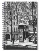 Winter In Paris Spiral Notebook