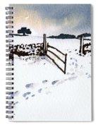 Winter In Stainland Spiral Notebook