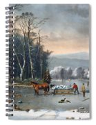 Winter In The Country Spiral Notebook