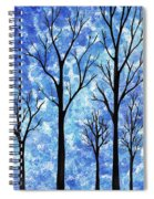 Winter In The Woods Abstract Spiral Notebook