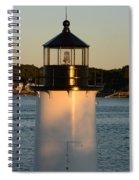 Winter Island Lighthouse At Sunset, Salem, Massachusetts Spiral Notebook