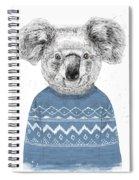 Winter Koala Spiral Notebook