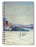 Winter Landscape 1885 Spiral Notebook