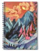 Winter Landscape In Moonlight Spiral Notebook