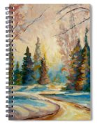 Winter Landscape Knowlton Quebec Spiral Notebook