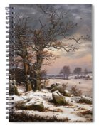 Winter Landscape. Near Vordingborg Spiral Notebook