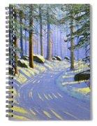 Winter Landscape Study 1 Spiral Notebook