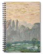 Winter Landscape With Evening Sky Spiral Notebook