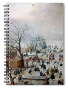 Winter Landscape With Skaters Spiral Notebook
