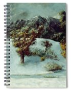 Winter Landscape With The Dents Du Midi Spiral Notebook