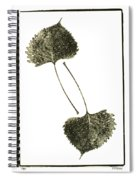 Winter Leaf Spiral Notebook