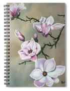 Winter Magnolia Blooms Spiral Notebook